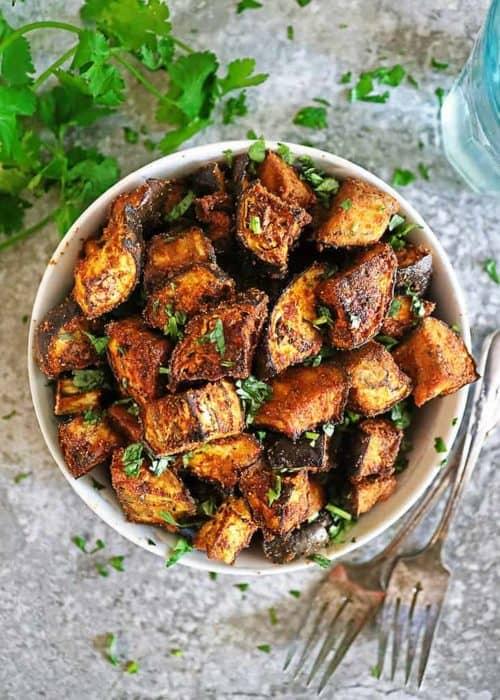Easy Oven Roasted Eggplant