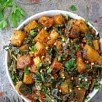 Healthy Potato Salad with Dandelion Greens