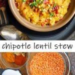 Chipotle Lentil Stew (instant pot + stove top)