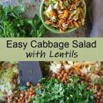 Easy Cabbage Salad with Lentils Recipe