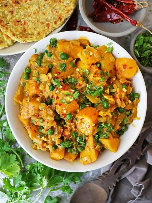 Butternut Squash Curry with Chiltepin Peppers