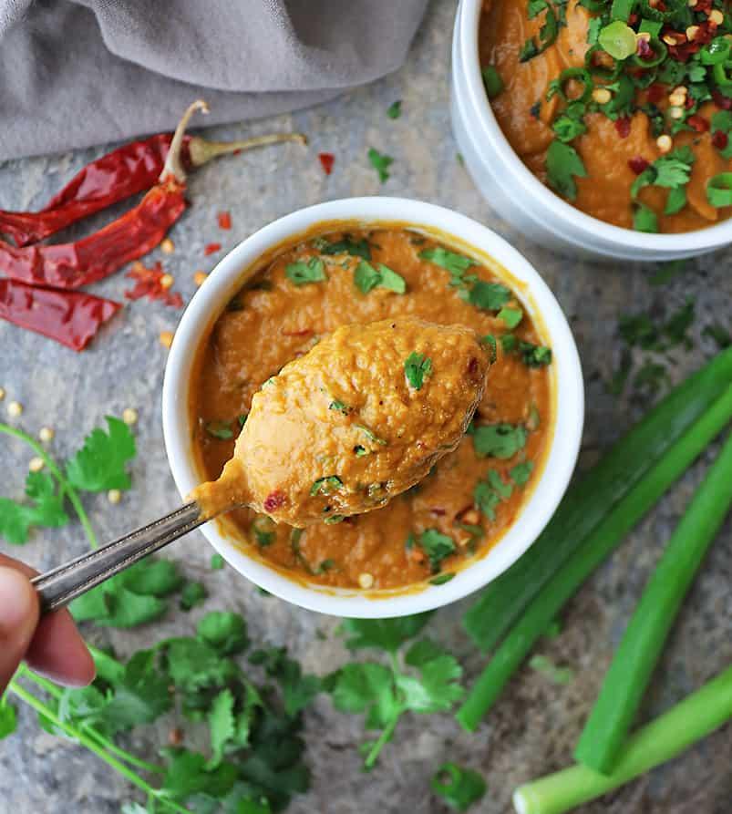 Indulgent yet healthy pumpkin soup