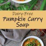 vegan healthy pumpkin curry soup