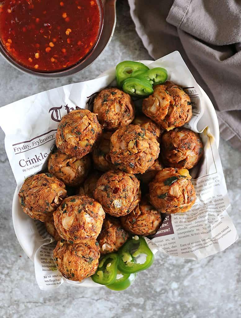 6 ingredient jackfruit balls