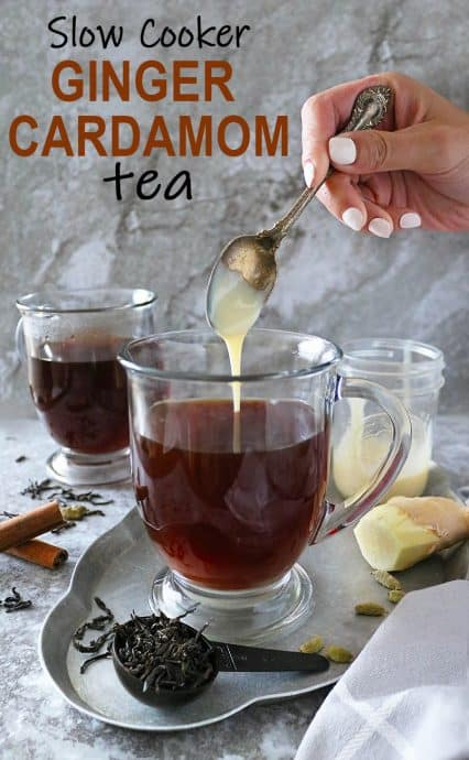 As days get shorter and cooler, grab a blanket, and cozy up to a large mug of this ginger cardamom tea.