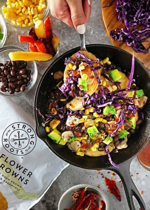 Loaded Cauliflower Hash Browns