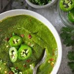 Spinach Curry Soup - delicious and vegan