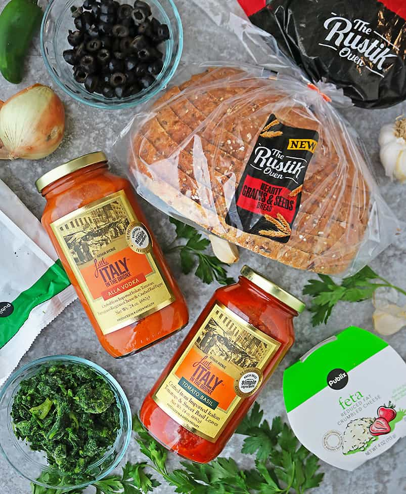 Ingredients to make Chicken Saltimbocca with a spin