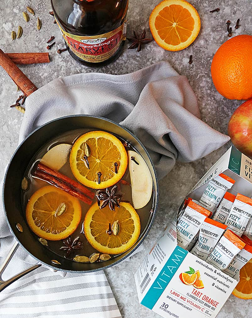 Making Spiced Citrus Mulled Juice with Sprouts Fizzy Cs Tart Orange