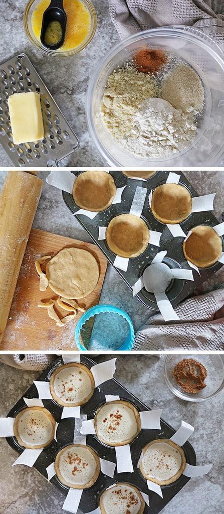 Some easy steps to make Making egg custard tarts