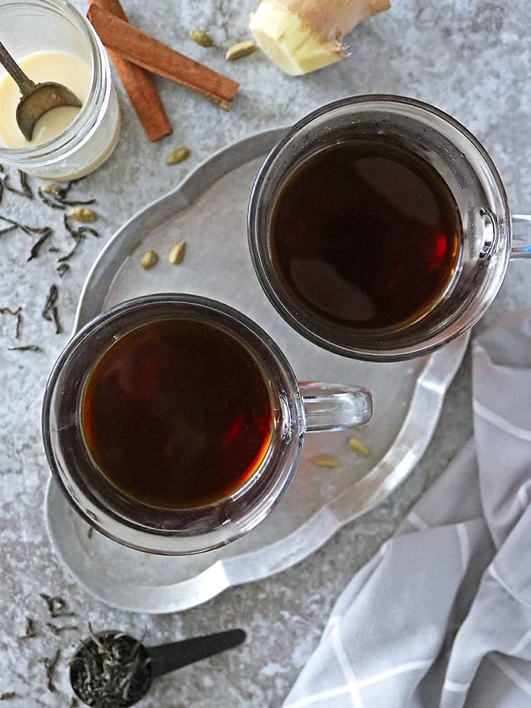 Slow cooker ginger cardamom tea