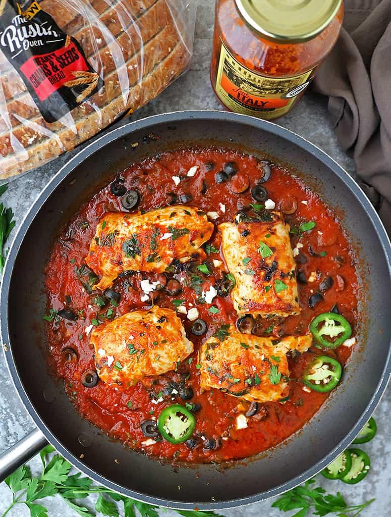 Tasty Spicy gluten-free Chicken Saltimbocca