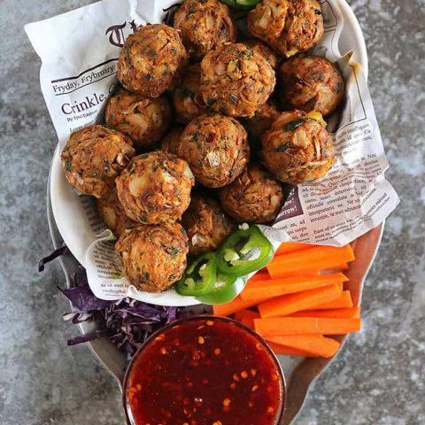 Tasty vegan jackfruit balls