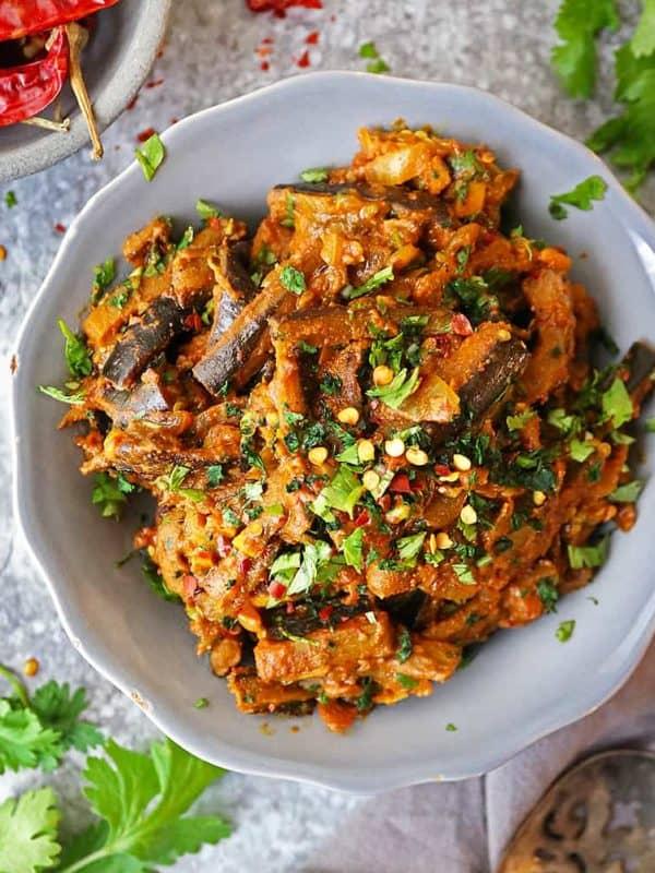 Pan Fried Eggplant Curry