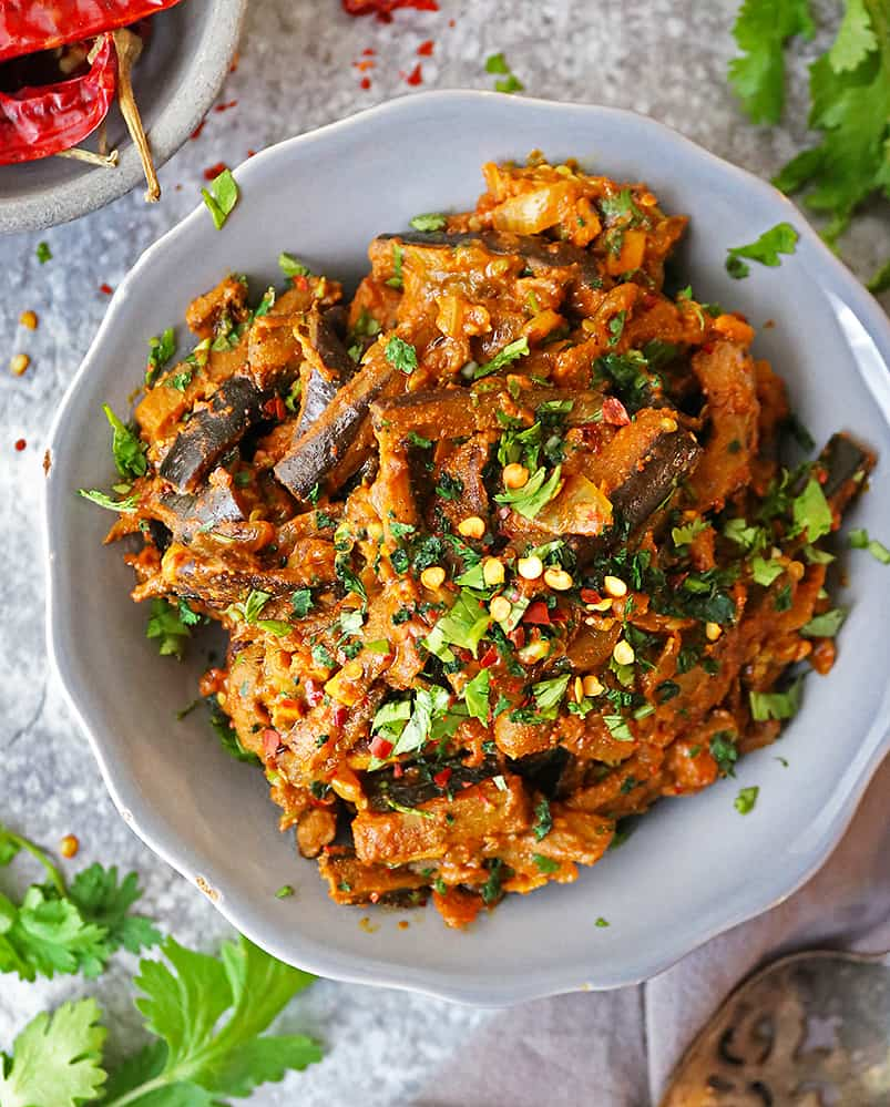 healthy vegan eggplant curry