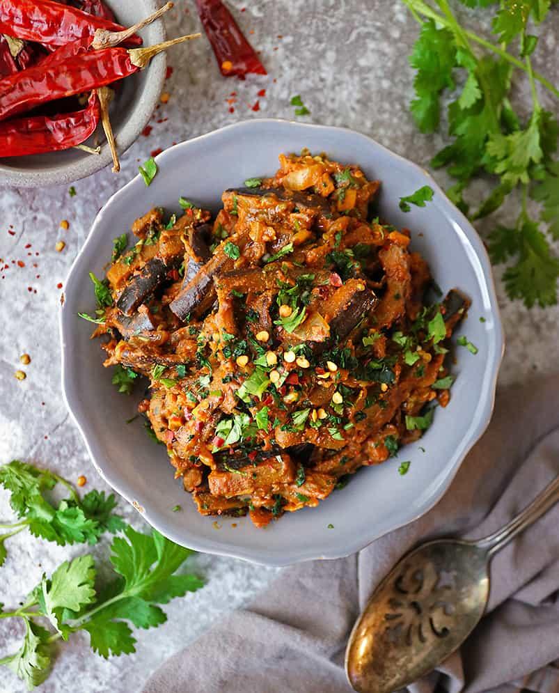 tasty vegan eggplant curry healthy