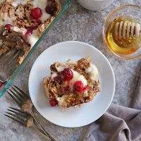 perfect for the holidays English Muffins French Toast Bake with eggnog