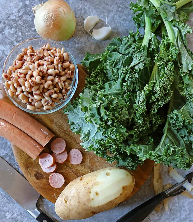 Ingredients to make New Years Hash