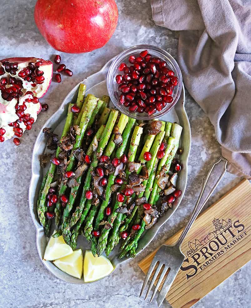 Tasty Zataar Asparagus with Pomegranate