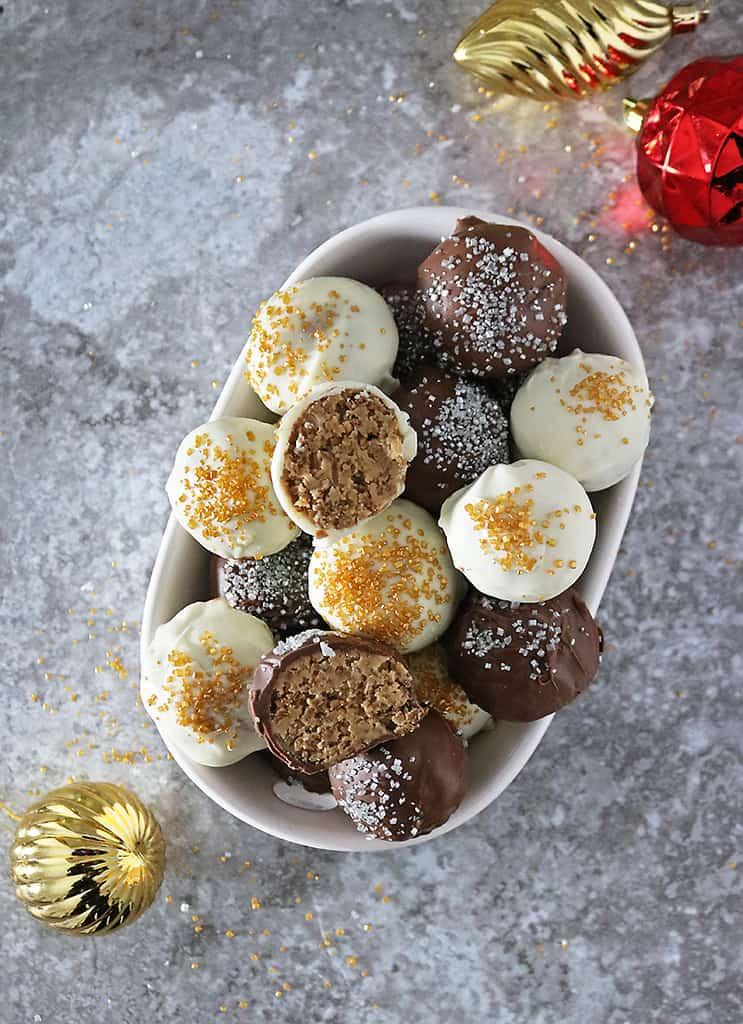 crunchy peanut butter truffles