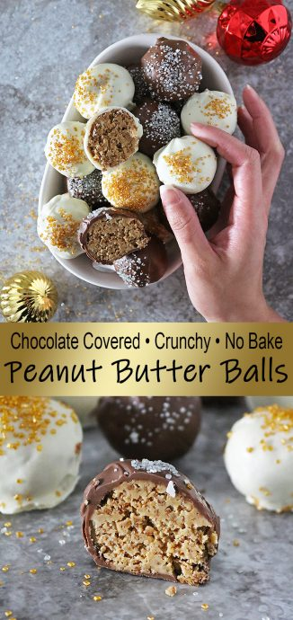 Easy No Bake Peanut Butter Balls your family is sure to love.