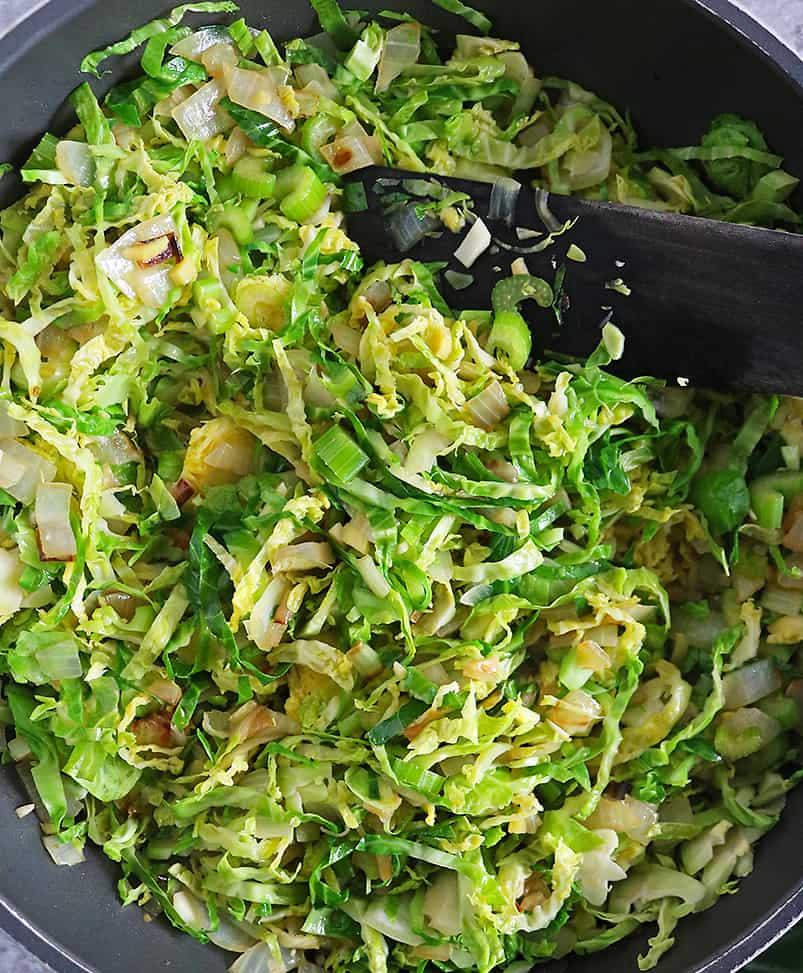 making Christmas Salad