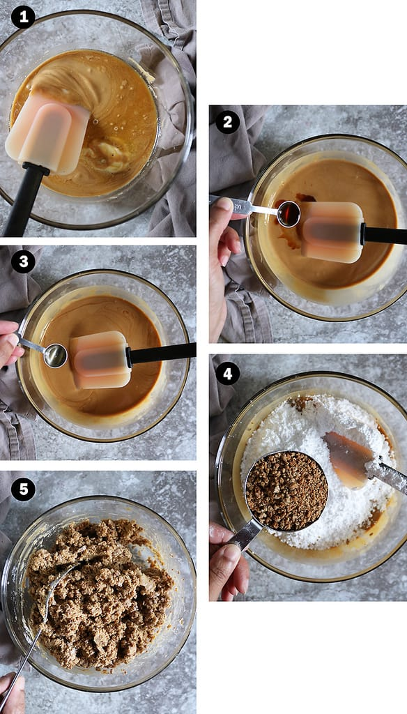steps to make no bake crunchy peanut butter balls