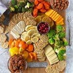 zaatar roasted veggies cracker cheese platter