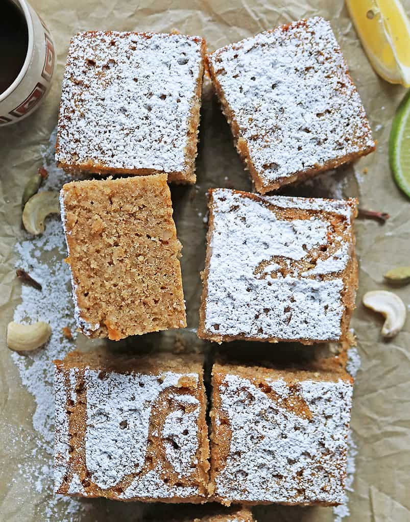 Traditional Love Cake without puhul dosi but with eggs on a parchment paper.