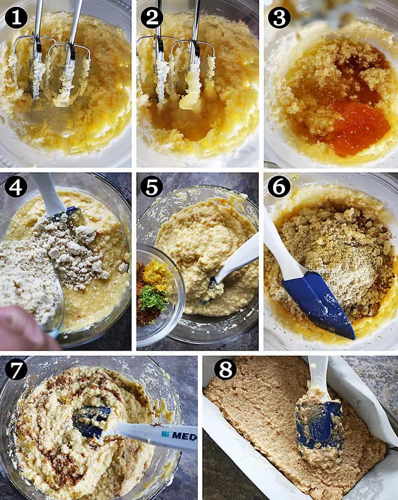 Steps to make vegan love cake