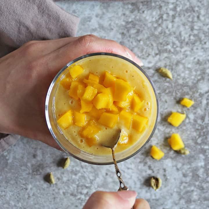 Thick Nutritious Mango Lassi