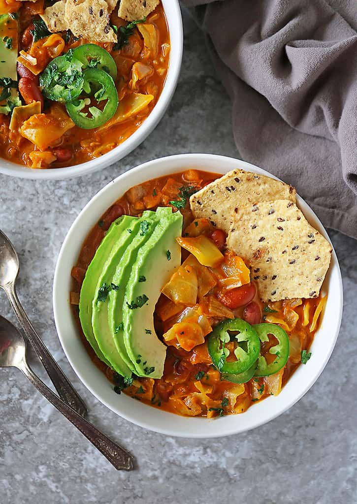 Easy vegan soup with all the fixings - definitely the best cabbage soup recipe I have had.
