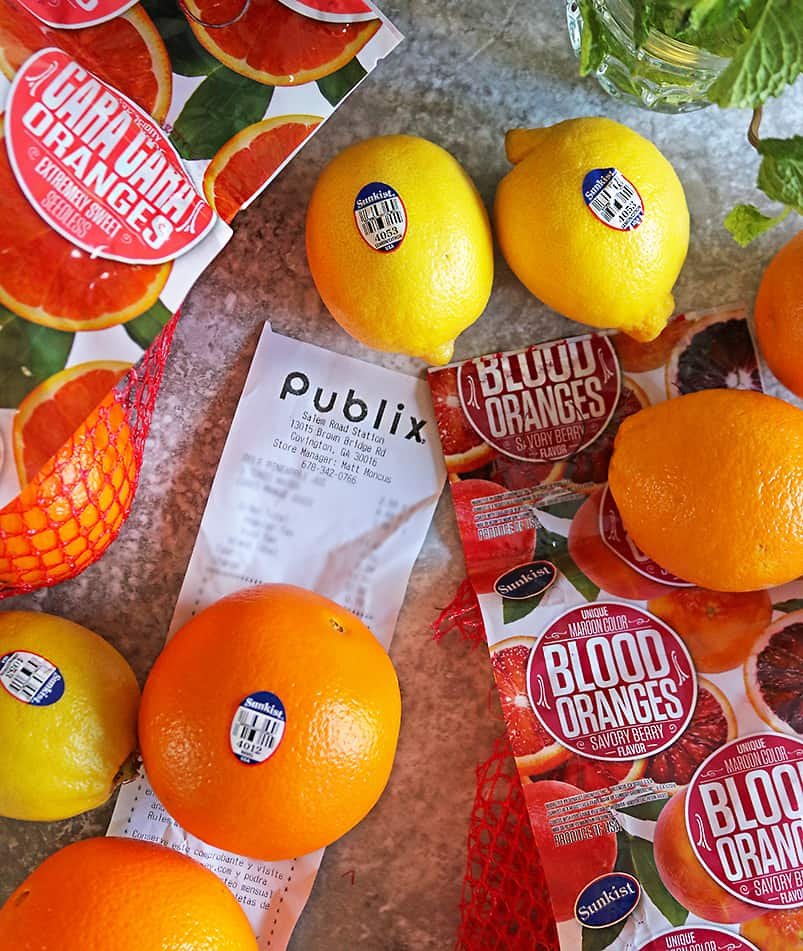 Picture of Sunkist fruits At Publix with Publix Receipt