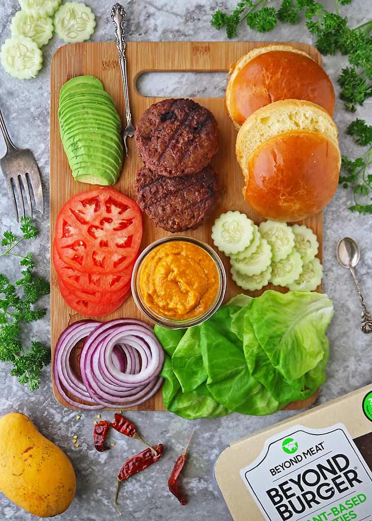 Beyond Meat Burger platter