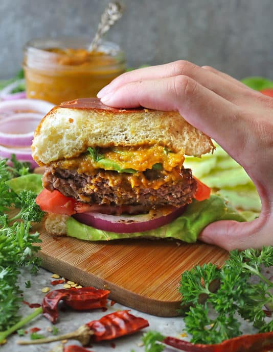 Delicious plant-based Beyond Meat Burger