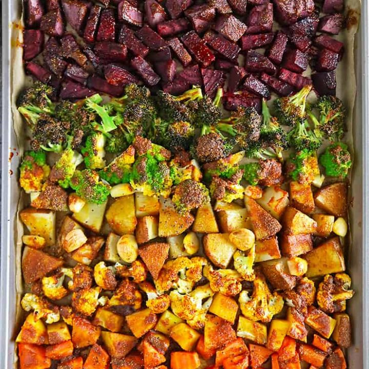 Easy Turmeric Roasted Sheet Pan Veggies