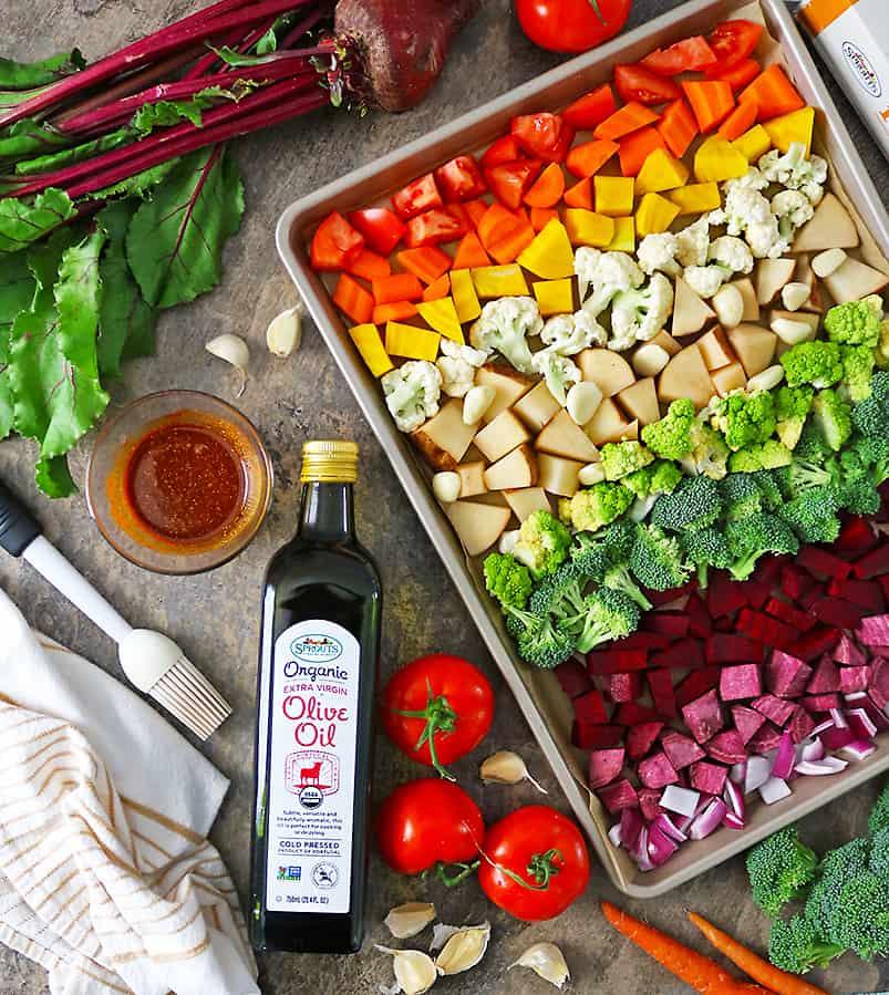 Ingredients To Make Sheetpan roasted veggies