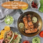 Salmon is coated with fresh lemon juice, fresh grated ginger, and a smattering of zaatar and then pan roasted until it's slightly seared and fabulously flaky.