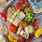 Cheese board with Mango Habanero Chutney fruit and crackers