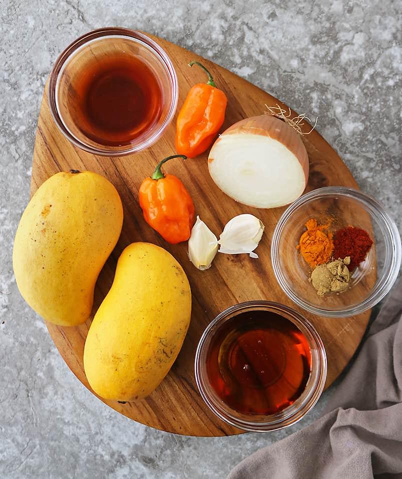 The 9 ingredients to make Mango Habanero Chutney