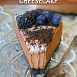 The Best No-Bake Vegan Chocolate Cheesecake