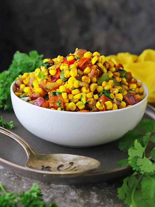 Easy corn salad recipe with frozen corn