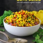 Flavorful and bright, this Easy Corn Salad is always a crowd-pleaser. Made with fuss-free frozen corn, this salad can be enjoyed all season long.
