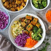 Quick Easy Tofu fried rice bowls