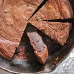Made with only 5 ingredients (which you probably already have in your kitchen), this flourless Peanut Butter Chocolate Skillet Cake is gloriously fudgy and delicious.