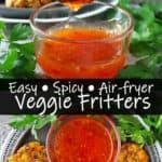 Vegan Air fryer Veggie Fritters