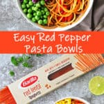 Red Pepper Pasta Bowls