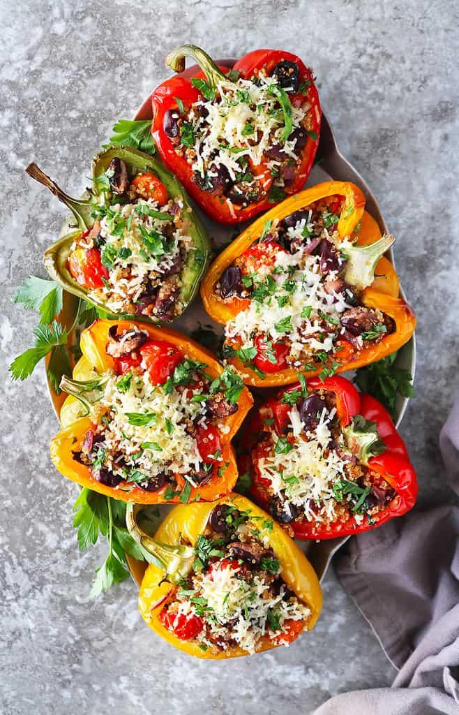 tasty vegan stuffed peppers